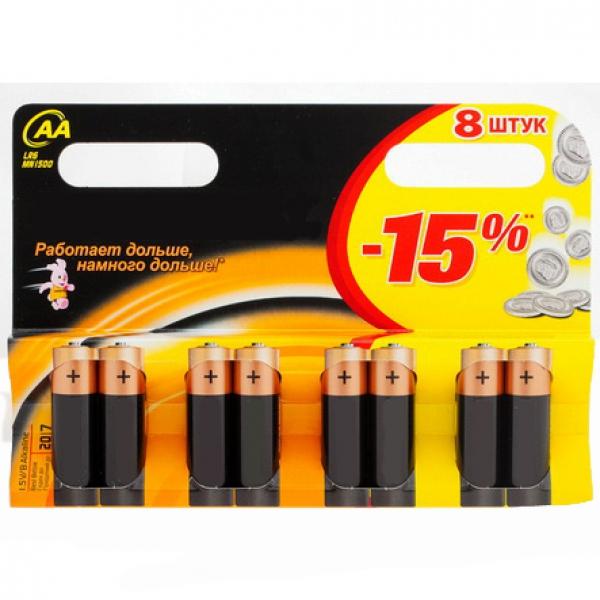 Батарейки АА х 8шт.